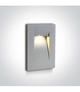 3.6W LED Iebūvējamā lampa Grey IP65 3000K 68062/G/W