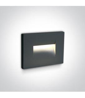 3.6W LED Iebūvējamā lampa Anthracite IP65 3000K 68064/AN/W