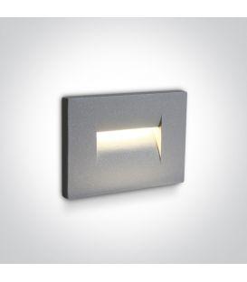 3.6W LED Iebūvējamā lampa Grey IP65 3000K 68064/G/W