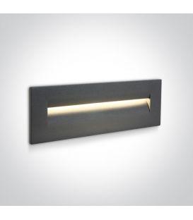 8.5W LED Iebūvējamā lampa Anthracite IP65 3000K 68066/AN/W