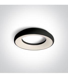 25W LED Griestu gaismeklis Black Ø30 IP40 67402/B/W