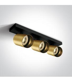 Griestu gaismeklis RETRO 3 Brushed Brass 65305N/BBS