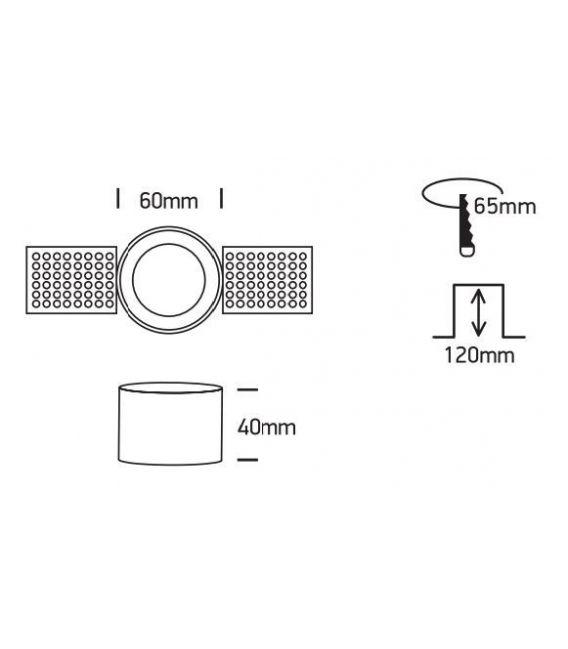 Įmontuojamas šviestuvas Black 10105TR/B