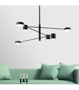 36W LED Piekarama lampa EMMA/6N Black 1928