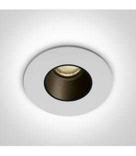 2W LED Iebūvējamā lampa White 3000K IP65 10102H/W/W