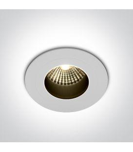 7W LED Iebūvējama lampa White 3000K IP65 10107H/W/W