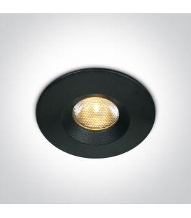 3W LED Iebūvējamā lampa Black 3000K IP65 10103M/B/W