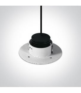 1W LED įmontuojamas šviestuvas White 10101TR/W/W