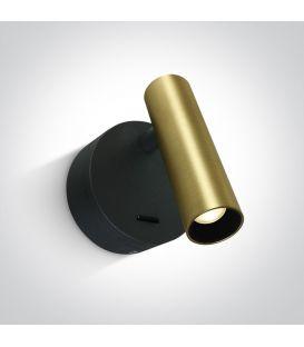 3W LED Sienas lampa READING Brushed Brass 65738/BBS/W