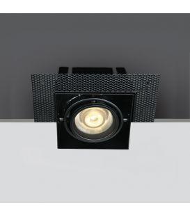 Iebūvējama lampa Square Black 51010TR/B