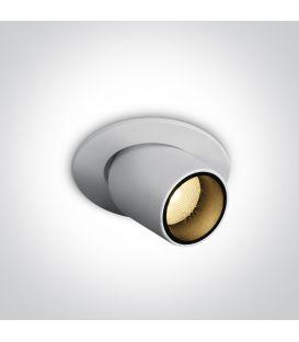 3W LED Iebūvējama lampa White 11103M/W/W
