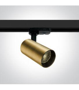 12W LED Apgaismojuma prožektoru ONE LIGHT 3F Brushed Brass 3000K 65524T/BBS/W
