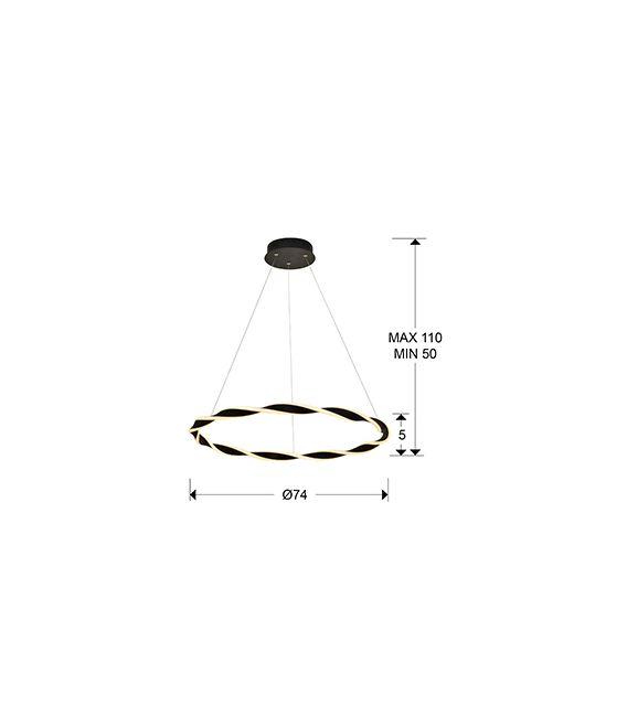 54W LED Pakabinamas šviestuvas TRENZA 829731
