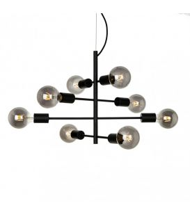 Piekarama lampa PORTEL Black PND-02431-8-BL