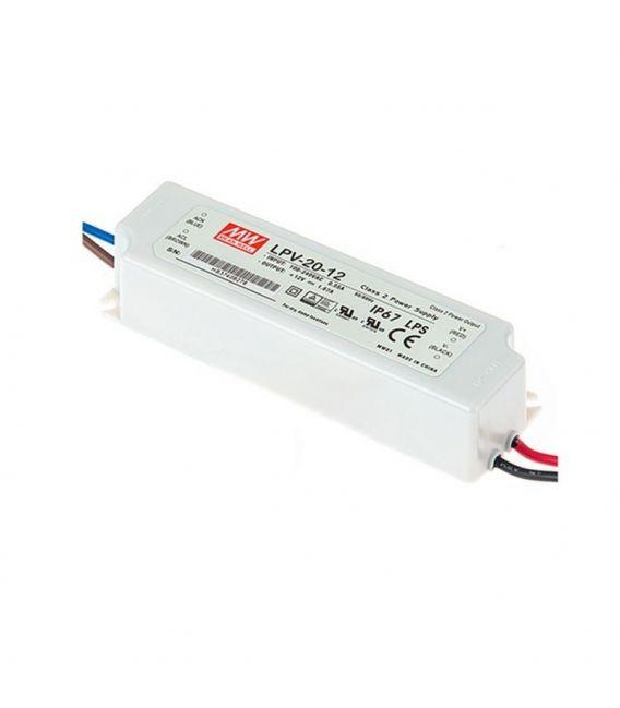 Transformātors LPV-20-12 20W 12V 1,67A IP67 LPV-20-12