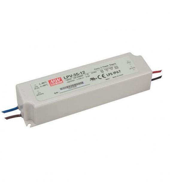 Transformātors LPV-35-12 36W 12V 3,00A IP67 LPV-35-12.
