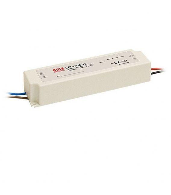 Transformātors LPV-100-12 102W 12V 8,5A IP67 LPV-100-12.